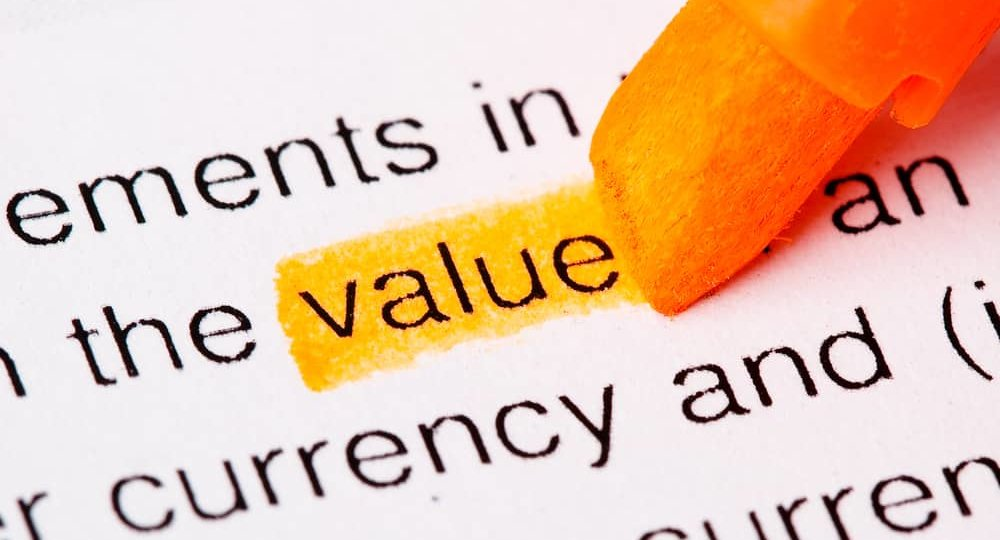 Value | picture of the word value highlighted